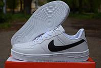 Кроссовки белые Nike air force женские низкие