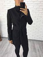 Пальто кашемировое на поясе