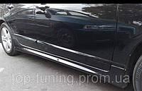 Накладки на пороги Honda Civic