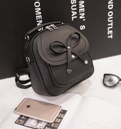 Милый городской рюкзак-сумка с бантиком, фото 2