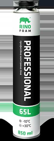 Профессиональная монтажная пена Rino 65, 850 мл