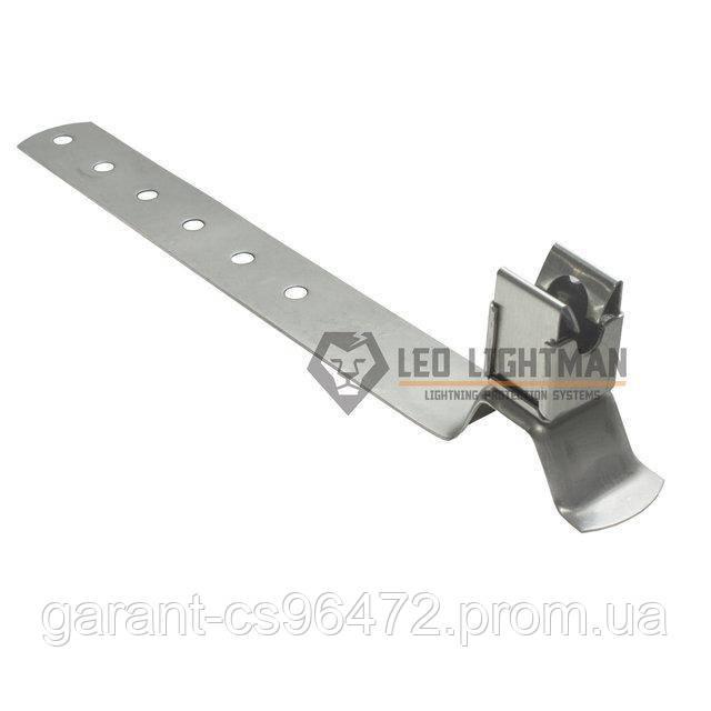 Держатель для круглых проводников Ø8 мм под черепицу RAL 8017 St/gZn/C
