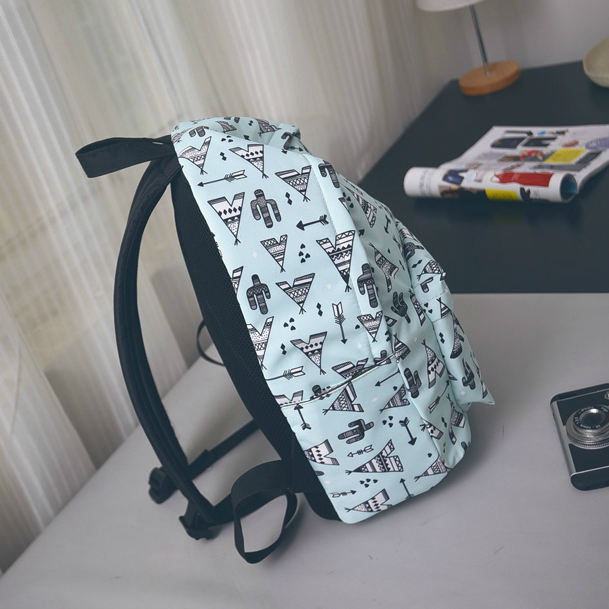 школьный рюкзак мятного цвета