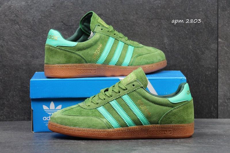 929af96d4cd90a Чоловічі замшеві кросівки Adidas Spezial світло-зелені - Камала в  Хмельницком
