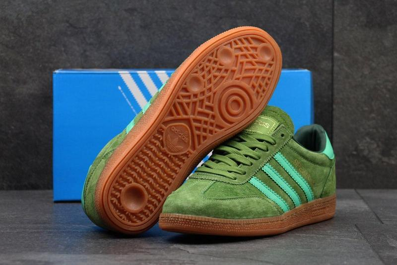 6df2421f478ca4 ... Чоловічі замшеві кросівки Adidas Spezial світло-зелені , фото 5 ...