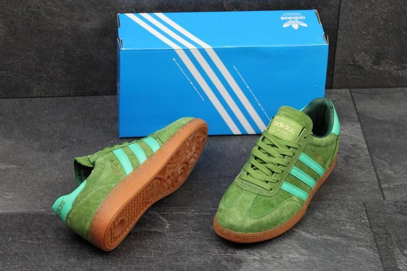 ef1266b1c78655 Чоловічі замшеві кросівки Adidas Spezial світло-зелені , цена 1 015  грн./пара, купить Хмельницький — Prom.ua (ID#583445188)
