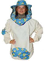 Куртка пчеловода Классика. Бязь суровая. Размер M / 48-50
