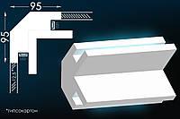 Карниз из гипса для скрытого освещения Тс-2
