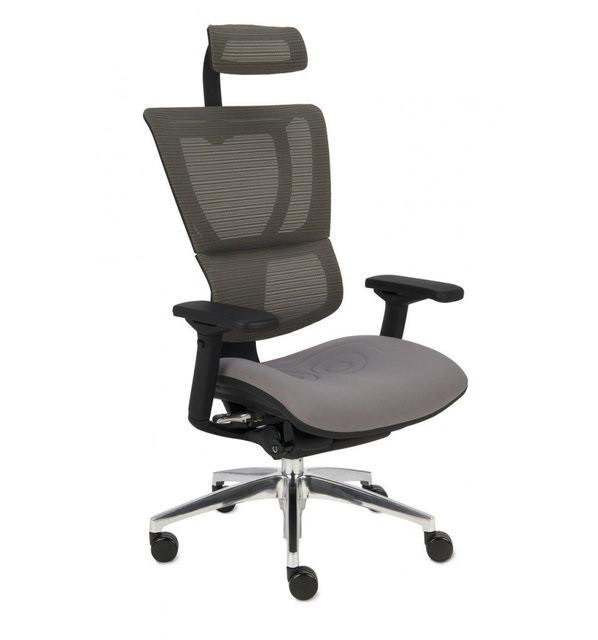 Эргономичное Кресло Mirus-IOO Серое с тканевым сиденьем