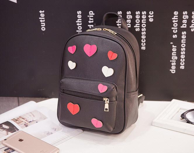 Романтический городской рюкзак с сердечками