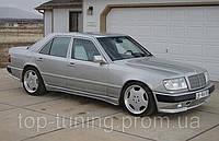 Накладки на пороги Mercedes E-Class
