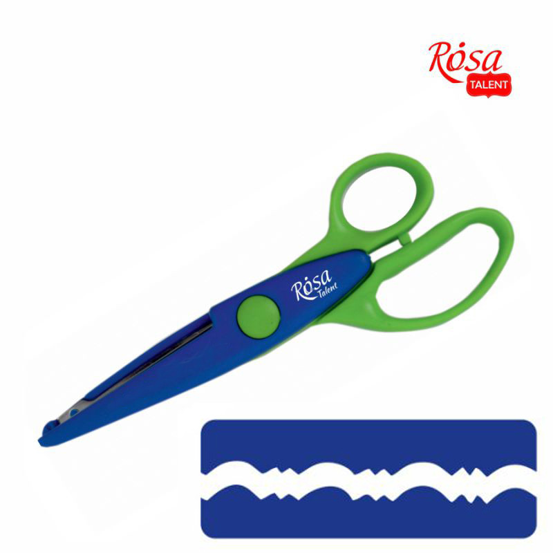 Фигурные ножницы для бумаги и фоамирана №5, 16.5 см, ROSA Talent
