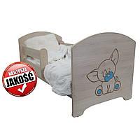 Детская кровать Oskar Гравированный голубой щенок 140 х 70 Baby Boo 100161