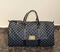Сумка-саквояж Louis Vuitton LV  Monogram  Keepal Black (реплика) дорожная/тренировочная