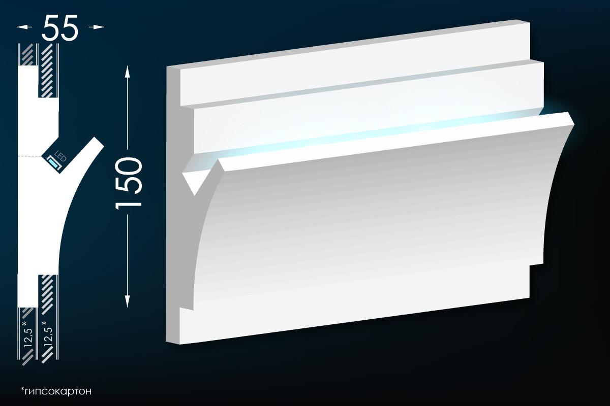 Карниз для прихованого освітлення Мс-12