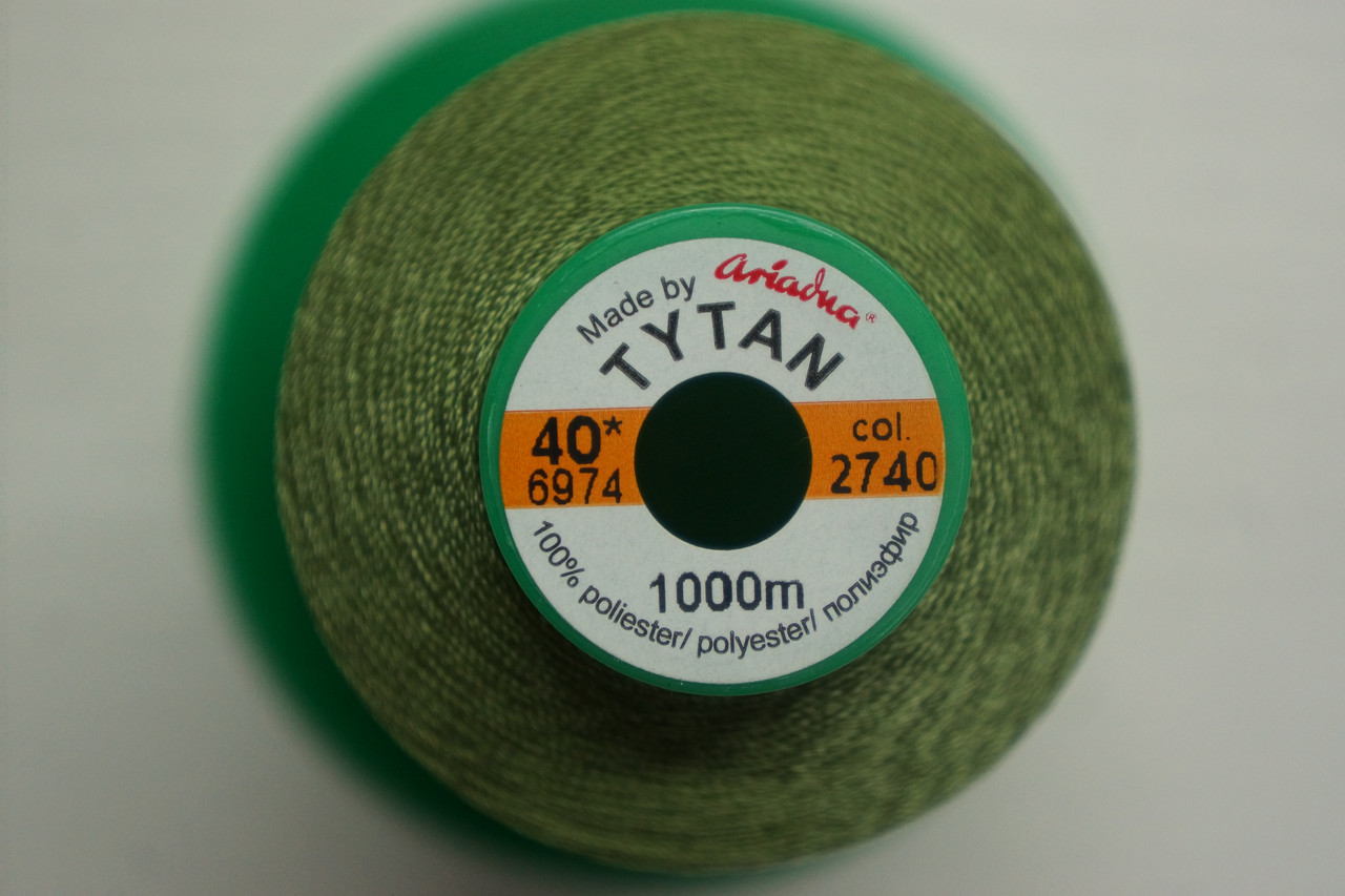 Нить Титан №20 2000 м. Польша цвет (2740) зелений
