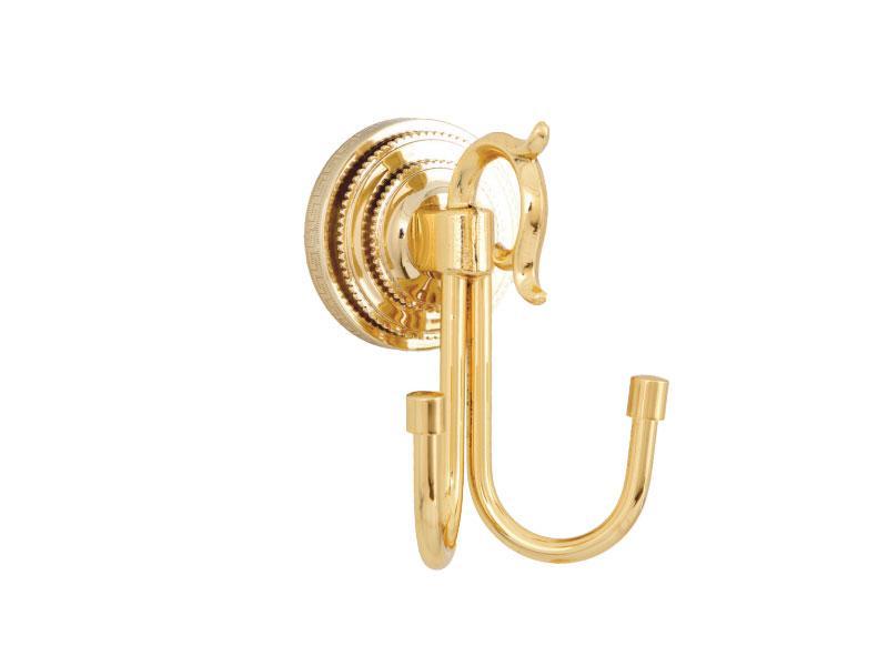 Гачок подвійний для рушників Kugu Versace 210G, золото