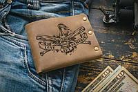 Мужской кожаный кошелек ТатуНаКоже, уличная, фото 1