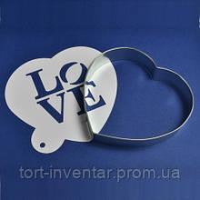 "Cutter's Набор каттер и контурный трафарет ""LOVE"" №1"