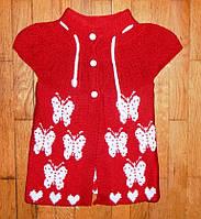Детская жилетка для девочки Розочка 2-3 года