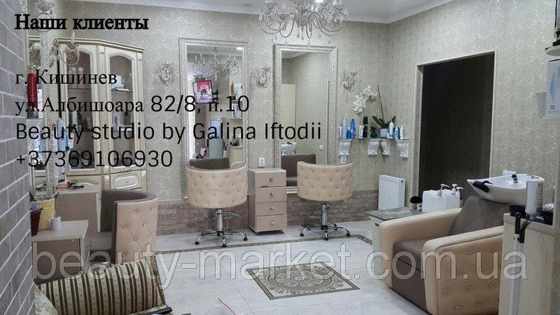 Кресло-мойка Obsession, Тележка Rialto, Кресло клиента Ice Queen, Подножка хромированная S-080