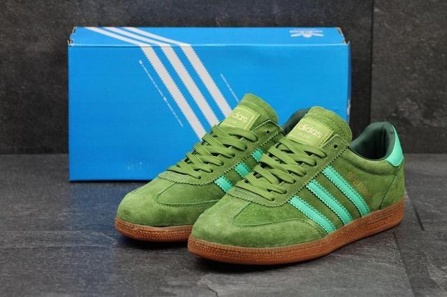 2f25e554e590d7 Чоловічі замшеві кросівки Adidas Spezial світло-зелені , цена 1 015 ...