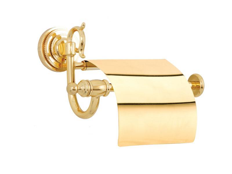 Тримач для туалетного паперу з кришкою Kugu Versace 211G, золото