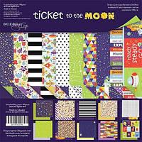 Набор бумаги для скрапбукінга Scrapmir Ticket to the Moon (англ), 20х20см