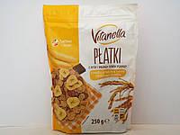 Завтрак рисово-пшеничный Vitanella хлопья с бананом и шоколадом 250 г, фото 1
