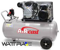⭐ Компрессор Aircast СБ4/С-100.LB24 с горизонтальным ресивером (Remeza) (100л, 360 м3/ч, 380В)