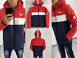 """Куртка мужская """"Adidas (копия)"""" теплая зима"""