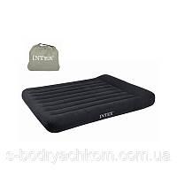 Надувная двухместная кровать Intex  183х203х30 см.