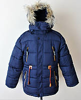 Детская зимняя куртка для мальчика на меху, фото 1
