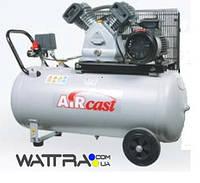 Компрессор Aircast СБ4/С-100.LB30А с горизонтальным ресивером (Remeza)