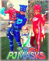 Аниматоры Герои в Масках PJ Masks!Кетбой Алет и Геко   на детский праздник,Кетбой Алет и Геко. Киев.