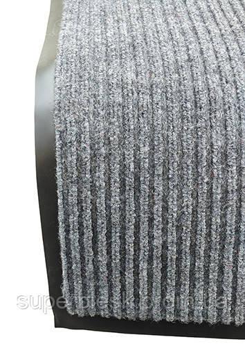 Грязезащитный коврик Дабл Стрипт, 90*150 серый.