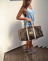 Сумка-саквояж Louis Vuitton LV  Vintage Keepal Brown (реплика) дорожная/тренировочная