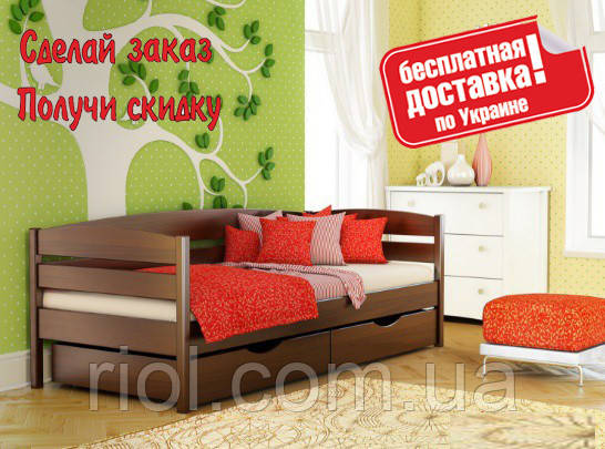 Кровать деревянная Нота Плюс детская