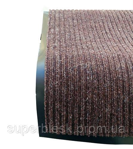 Грязезащитный коврик Дабл Стрипт, 120*150 шоколад.