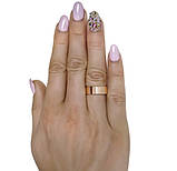 """Серебряные обручальные кольца с золотыми вставками """"Американка"""" 6мм, фото 3"""