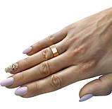 """Серебряные обручальные кольца с золотыми вставками """"Американка"""" 6мм, фото 4"""