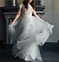 Свадебное платье с кроп-топом