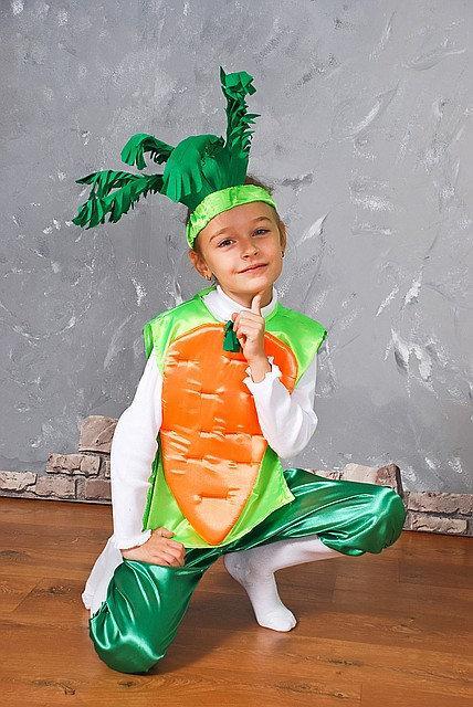 Яркий карнавальный костюм Морковь