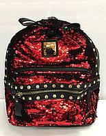 Женский рюкзак из кожзаменителя в пайетках