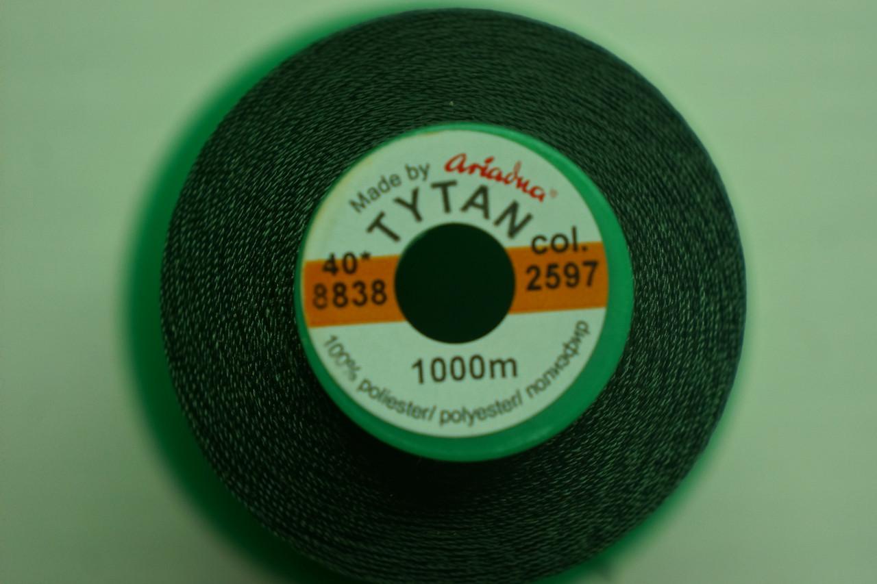 Нить Титан №20 2000 м. Италия цвет (2597) темнозелений