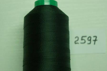 Нить Титан №20 2000 м. Италия цвет (2597) темнозелений, фото 2