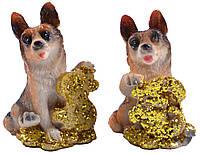 Новогодние подарки оптом статуэтка Собака | Собака - символ 2018 года