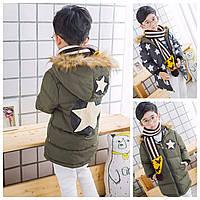 Куртка Звезда двухсторонняя (зел) 120,150