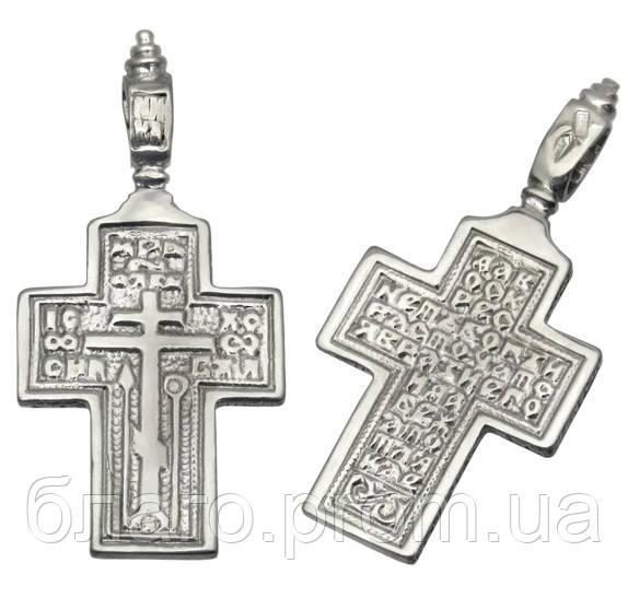 Серебряный крестик с Молитвой Честно́му Кресту