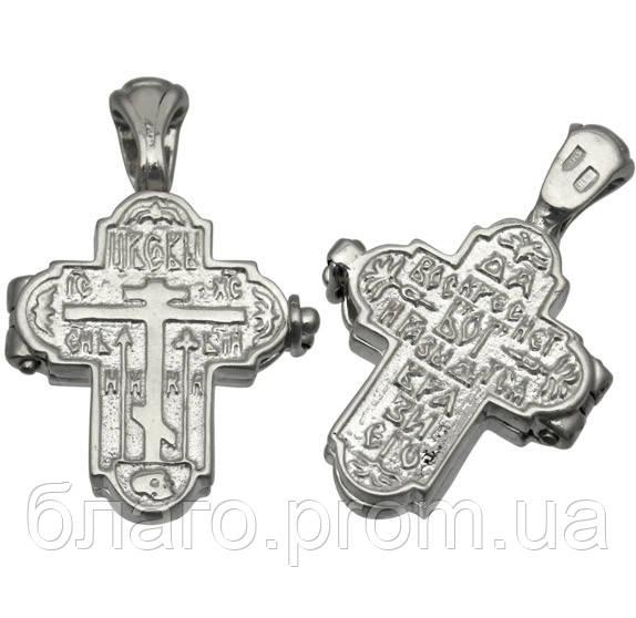 Крест мощевик с Молитвой Честно́му Кресту